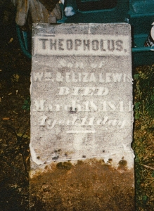 photo of Lewis, Theopholus - tombstone