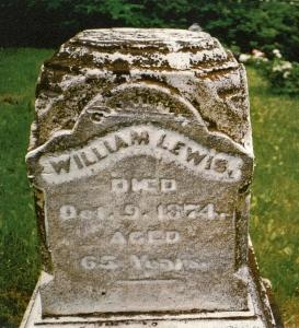 photo of Lewis, William - tombstone