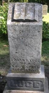 Edgar Luce tombstone