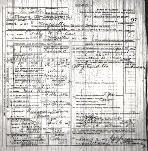 Luce, Edith M - death certificate