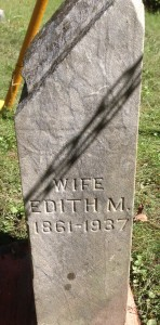 Edith Luce tombstone