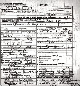Luce, Oma E - death certificate