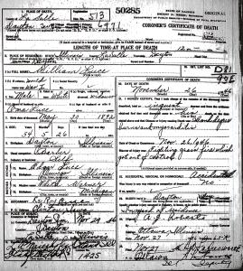Luce, William - death certificate