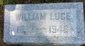 William Luce, tombstone