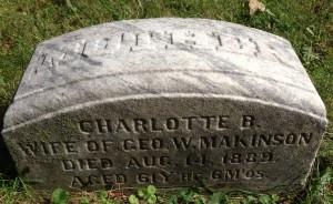 Charlotte Makinson tombstone