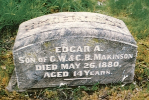 photo of Makinson, Edgar - tombstone