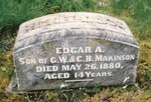 photo of Makinson, Edgar - tombstone