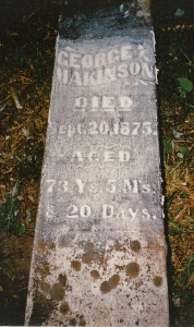 photo of Makinson, George - tombstone