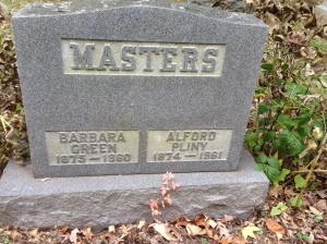 Pliny and Barbara Masters tombstone