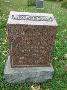 Miles and Lana Masters, tombstone