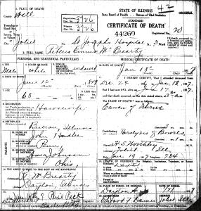 McBrearty, Rebecca - death certificate