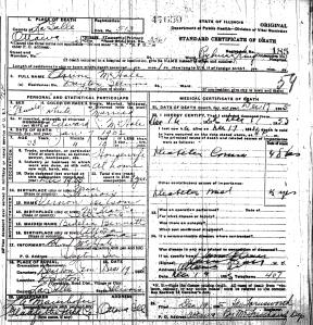 McHale, Clarine - death certificate