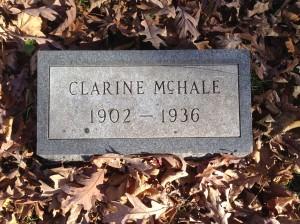 Clarine McHale, tombstone