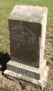 Louis Morel, tombstone