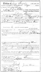 Pitzer, Margaret - death date document