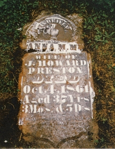 photo of Preston, Anna - tombstone