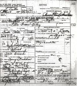 Riley, Ella Green - death certificate