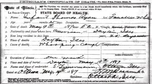 Ryan, Anna - death certificate