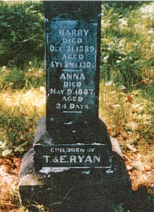 photo of Ryan, Harry and Anna - tombstone