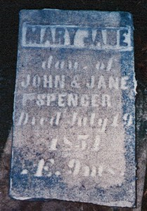 photo of Spencer, Mary Jane - tombstone