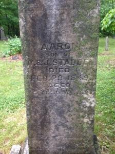 Aaron Stadden tombstone