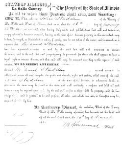 evidence of Stadden, John - death date