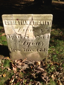Christian Stickley tombstone after restoration
