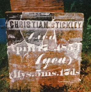 photo of Stickley, Christian - tombstone