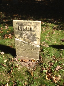 Linda Stickley tombstone after restoration