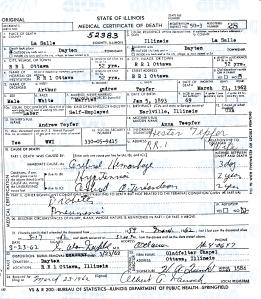 Tepfer, Arthur Andrew - death certificate