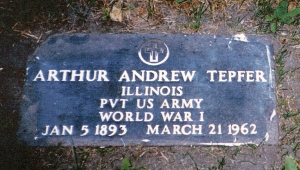 photo of Tepfer, Arthur Andrew - tombstone