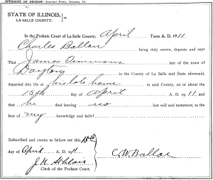 document for Timmons, James - date of death