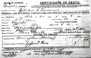 Timmons, William S - death certificate