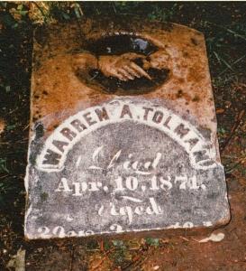 photo of Tolman, Warren A - tombstone