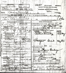 Ward, Alice - death certificate