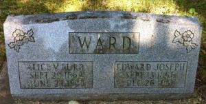 Edward and Alice Ward tombstone