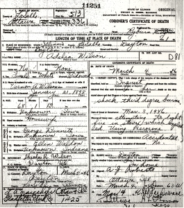Wilson, Adelia - death certificate