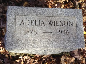Adelia Wilson,  tombstone
