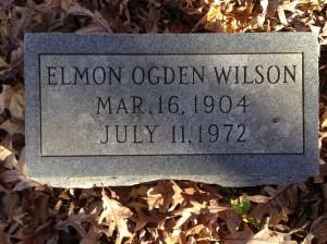 Elmon Ogden Wilson, tombstone