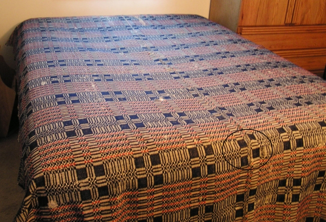 Woolen factory coverlet