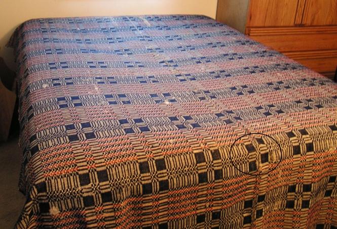 Woolen factory coverlet