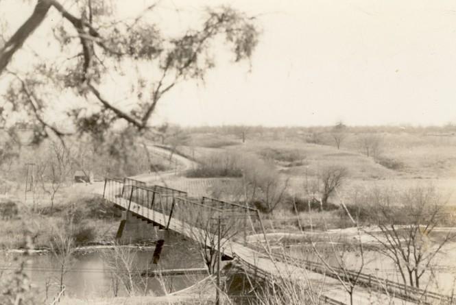 iron bridge at Dayton 1886