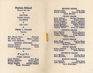 1952 Class list - Dayton school