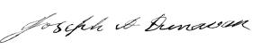 Joseph A. Dunavan signature