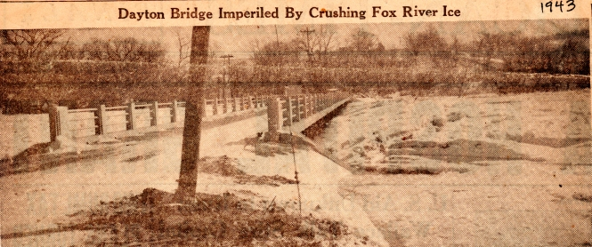 Ice jam on the Fox River 1943