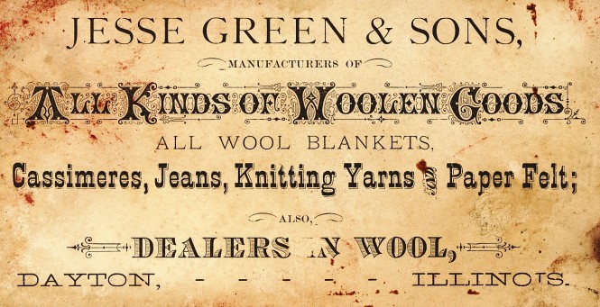 Jesse Green and Sons business card