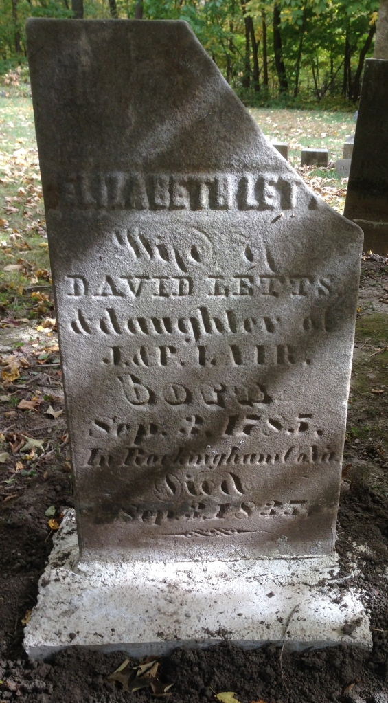 Elizabeth Letts tombstone