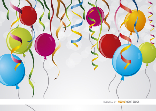 party-ribbons-balloons-background-free-vector