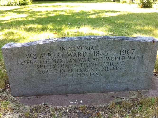 William Albert Ward, marker