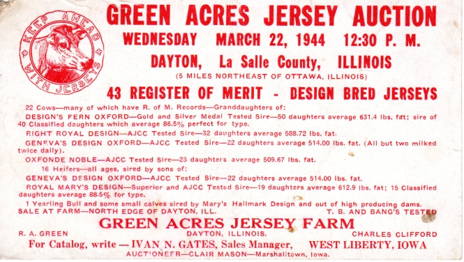 Green Acres Jersey Auction